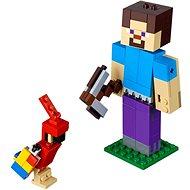 LEGO Minecraft 21148 Minecraft velká figurka: Steve s papouškem - Stavebnice