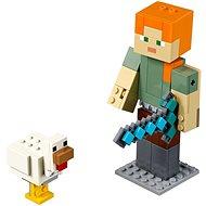 LEGO Minecraft 21149 Minecraft velká figurka: Alex s kuřetem - Stavebnice