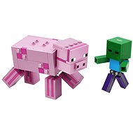 LEGO Minecraft 21157 Velká figurka: Prase s malou zombie - LEGO stavebnice