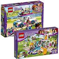 LEGO Friends 41313 Letní bazén v městečku Heartlake + LEGO Friends 41333 Olivia a její speciální voz - Herní set