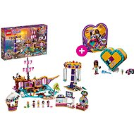 LEGO Friends 41375 Zábavný park na molu a LEGO 41354 Andreina srdcová krabička