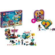 LEGO Friends 41378 Mise na záchranu delfínů a LEGO 41354 Andreina srdcová krabička