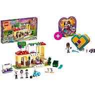 LEGO Friends 41379 Restaurace v městečku Heartlake a LEGO 41354 Andreina srdcová krabička