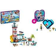 LEGO Friends 41380 Záchranné centrum u majáku a LEGO 41356 Stephanina srdcová krabička
