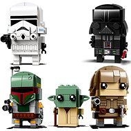 LEGO BrickHeadz 41619 Darth Vader + 41620 Stormtrooper + 41627 Luke Skywalker a Yoda + 41629 Boba Fe - Herní set
