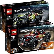 LEGO Technic 42073 Červená bugina + LEGO Technic 42072 Zelený závoďák - Herní set