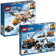 LEGO City 60195 Mobilní polární stanice + LEGO City 60193 Polární letiště - Herní set