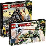 LEGO Ninjago 70612 Robotický drak Zeleného nindži + LEGO Ninjago 70631 Garmadonovo sopečné doupě - Herní set