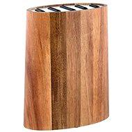 Toro Blok na nože, akátové dřevo+nerezová ocel - Stojan na nože