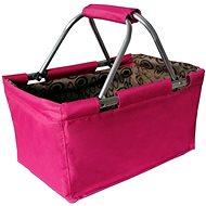 Toro Nákupní košík skládací 29l - růžový - Nákupní košík