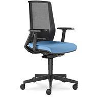 LD Seating Look černo/modrá - Kancelářská židle