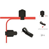 LABEL THE CABLE Wall Straps PRO 3110 Wall BK, 50-pack - Cable Organiser