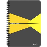 LEITZ Office A5 90 Sheets - Grey/Yellow - Notepad