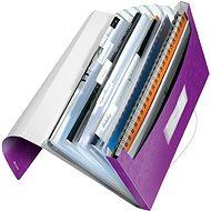 Leitz WOW A4 s přihrádkami purpurová