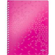 Leitz WOW A4, linkovaný, růžový - Poznámkový blok