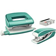 Leitz WOW Stapler + Punch, Metallic Ice Blue - Set