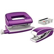 Leitz WOW Stapler + Punch, Metallic Magenta - Set