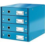 Leitz Click & Store WOW, 4dílný, modrý - Zásuvkový box