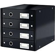 Leitz Click & Store WOW, 4dílný, černý - Zásuvkový box