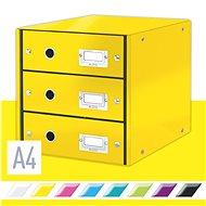 Leitz Click & Store WOW, 3dílný, žlutý