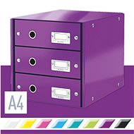 Leitz Click & Store WOW, 3dílný, purpurový