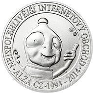 ALZA pamětní stříbrňák  20 let Alza.cz 1/2 Oz,  hmotnost 16 g, 999/1000 - Stříbrná pamětní mince