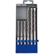 EXTOL Drills SDS PLUS for concrete, set of 6pcs - SDS-plus Drill Bit Set