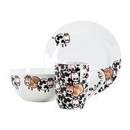 Mäser Dětská jídelní sada 3ks BROWN COW - Dětská jídelní sada