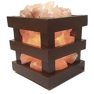 MARIMEX Dřevěná miska se solnými krystaly hranatá 3,5-4kg - Miska