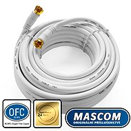 Mascom Coaxial Cable 7676-100W, Connectors F 10m - Antenna cable