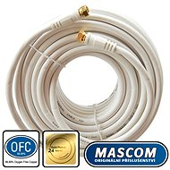 Mascom Coaxial Cable 7676-150W, Connectors F 15m - Coaxial cable