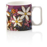 Maxwell & Williams Hrnek 350ml Art Love Life, fialový, bílá květina - Hrnek