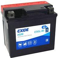 EXIDE ETX5L-BS, 12V, 4Ah, 70A - Motobaterie