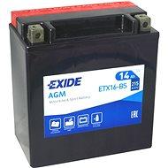 EXIDE ETX16-BS, 12V, 14Ah, 215A - Motobaterie