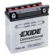 EXIDE BIKE Conventional 5Ah, 12V, YB5L-B / 12N5-3B - Motorcycle batteries