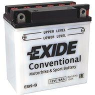 EXIDE BIKE Conventional 9Ah, 12V, YB9-B / 12N9-4B-1 - Motobaterie