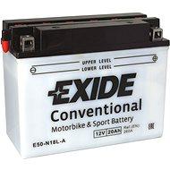 EXIDE BIKE Conventional 20Ah, 12V, Y50-N18L-A - Motobaterie