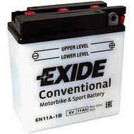 Motobaterie EXIDE BIKE Conventional 11Ah, 6V, 6N11A-1B - Motobaterie