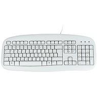 Logitech Value Keyboard CZ, bílá - Klávesnice