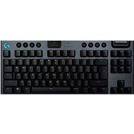 Herní klávesnice Logitech G915 LIGHTSPEED TKL Wireless RGB GL Clicky, carbon - US INTL