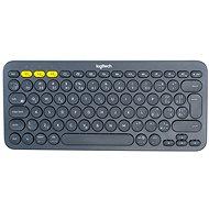 Logitech Bluetooth Multi-Device Keyboard K380, temně šedá - CZ+SK - Klávesnice
