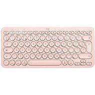 Logitech Bluetooth Multi-Device Keyboard K380 pro Mac, růžová - UK - Klávesnice