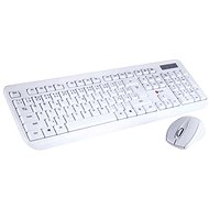 C-TECH WLKMC-01, bílá - CZ/SK - Set klávesnice a myši