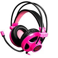 C-TECH Helios černo - růžová - Herní sluchátka