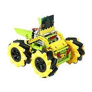 Mecanum bugina s pohybem 360° - žlutá (bez micro:bit) - Programovatelná stavebnice