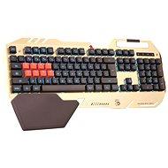 A4tech Bloody B418 CZ zlatá - Herní klávesnice