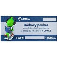 Elektronický dárkový poukaz Alza.cz na nákup e-knih, audioknih a časopisů v hodnotě 1000 Kč - Poukaz