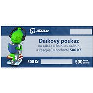 Electronic gift voucher Alza.cz for the purchase of e-books, audiobooks and magazines worth CZK 500 - Voucher