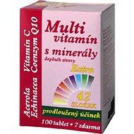 MedPharma Multivitamin s minerály 42 složek, extra C + Q10, 107 tablet - Multivitamín