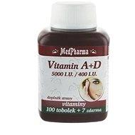 Vitamin A + D (5000 IU./400 I.U.) - 107 Capsules - Dietary Supplement